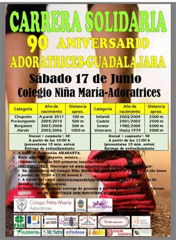 i carrera solidaria 90 aniversario adoratrices guadalajara 2017
