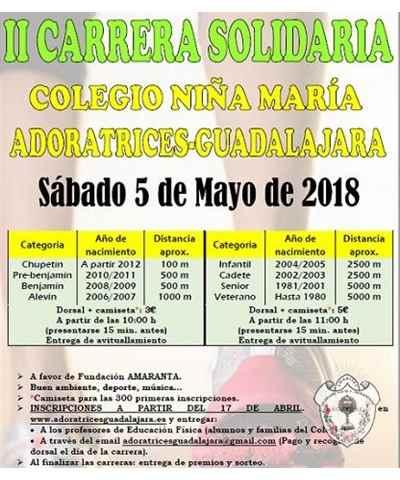 ii carrera solidaria adoratrices guadalajara 2018
