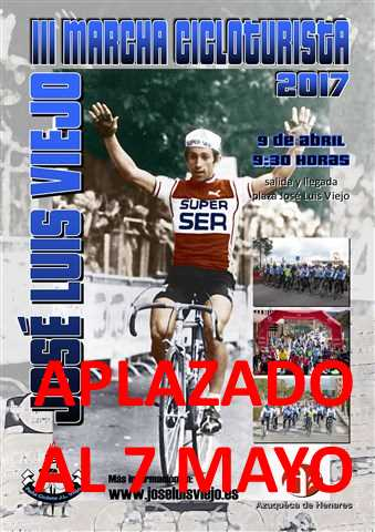 iii marcha cicloturista jose luis viejo 2017 aplazada
