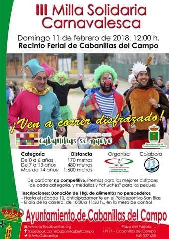 iii milla carnavalesca 2018