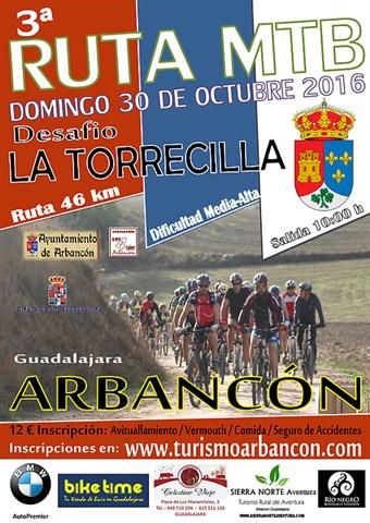 iii ruta mtb desafio la torrecilla arbancon2016