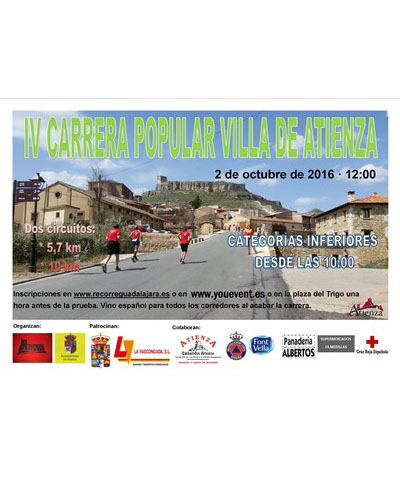 iv carrera popular villa de atienza 2016