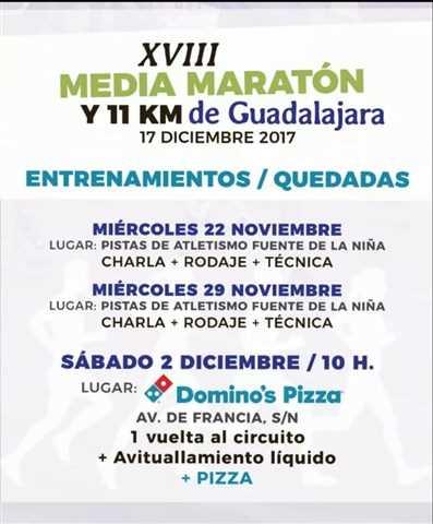 quedadas media maraton guadalajara 2017