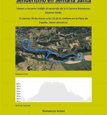 SENDERISMO X CARRERA POPULAR DE ROMANCOS