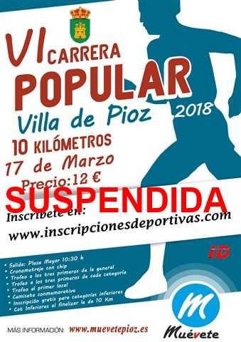vi carrera popular villa de pioz 2018 suspendida