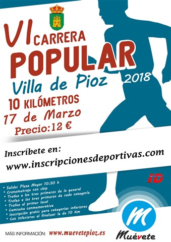 vi carrera popular villa de pioz 2018