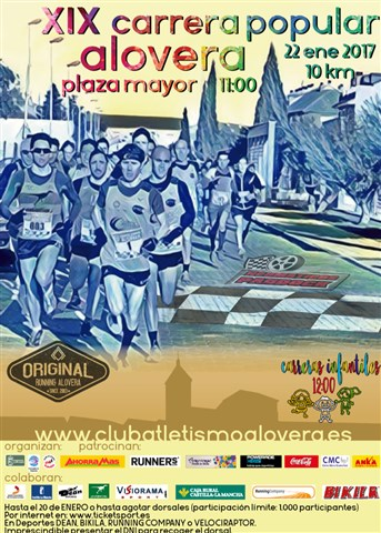 xix carrera popular alovera 2017