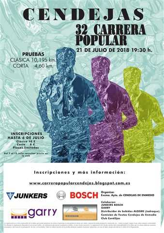 xxxii carrera popular de cendejas 2018