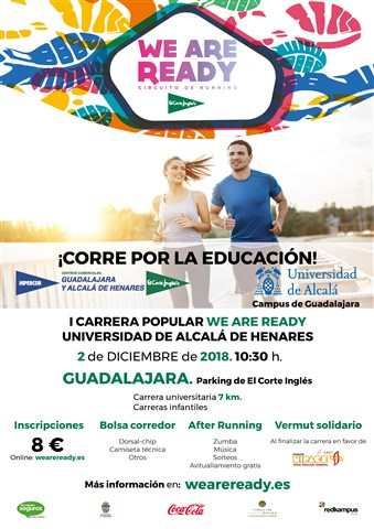 i carrera popular solidaria we are ready universidad de alcala 2018