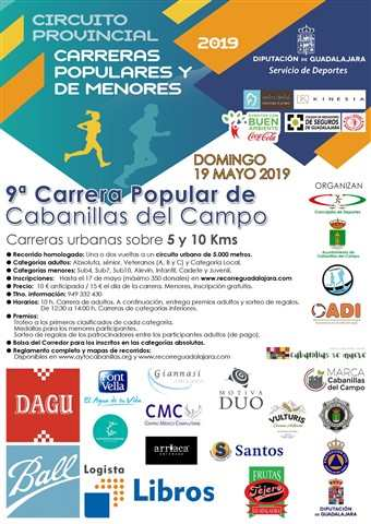 ix carrera popular cabanillas del campo 2019