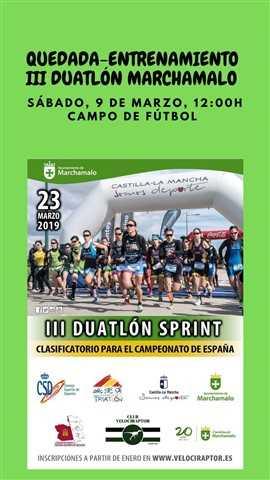 quedada iii duatlon sprint marchamalo 2019