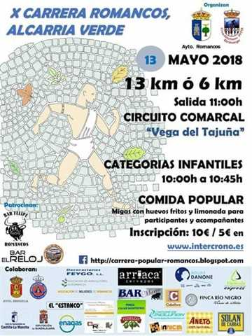 x carrera popular de romancos 2018