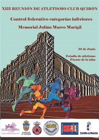 xiii fiesta del atletismo ca quiron memorial julian marco marigil 2017