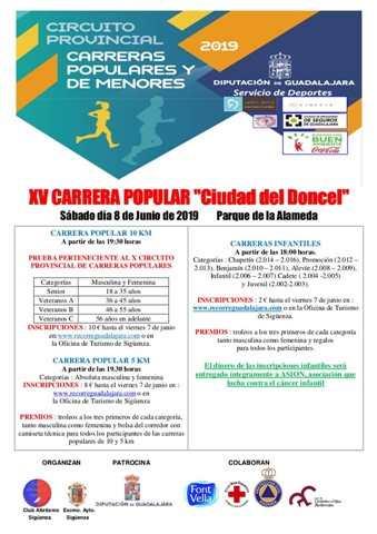 xv carrera popular ciudad del doncel 2019
