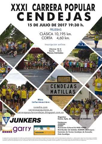 xxxi carrera popular de cendejas 2017